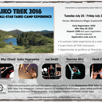 Taiko Trek - Summer Taiko Camp 2016