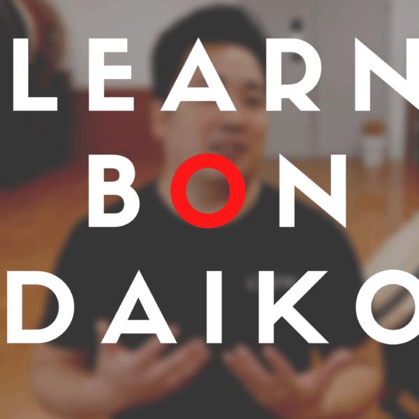 learn bon daiko - taiko course