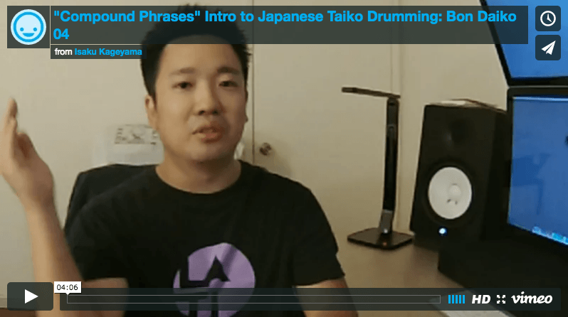 Taiko Lessons Los Angeles - Compound Phrases